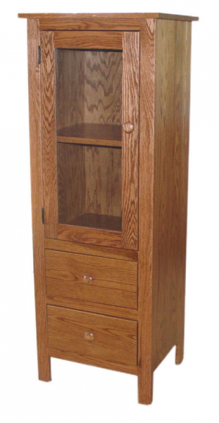 Glass Door & Two Drawer Jelly Cupboard