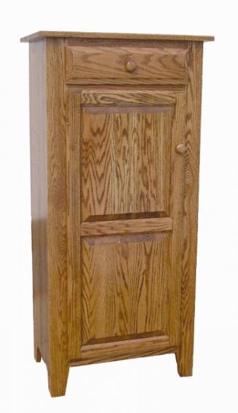 Solid Wood Raised Panel Single Door Jelly Cupboard