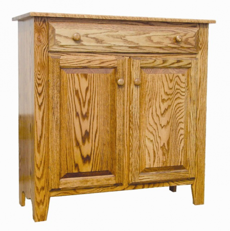 Double Raised Panel Door with Single Drawer Jelly Cupboard